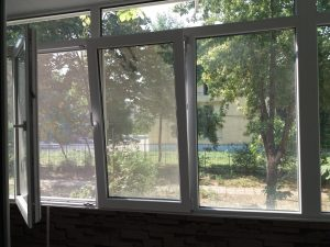 Прозорци преди почистване - бул Марица, Пловдив
