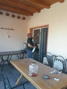Почистване на голяма тераса, Марково