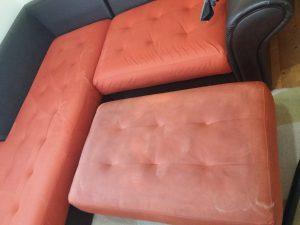 Разликата между чистите и мръсните модули на дивана.