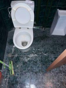 Тоалетна преди почистване - бул. България.