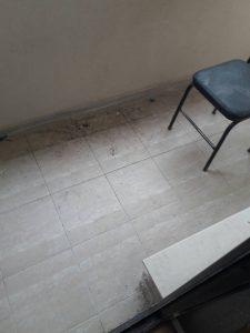 Тераса преди почистване - в Оазис 5.