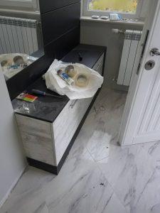 След ремонт - шкафове за почистване.