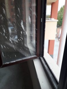 Кооперация - нов строеж: нужда от основно почистване на прозорци.