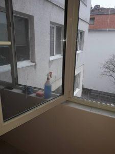 Прозорци след ремонт - непочистени.