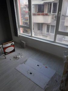Стая след ремонт - преди почистването.