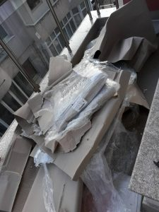 Тераса след ремонт - непочистена.