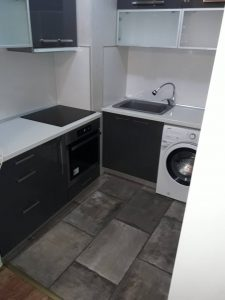 Почистена кухня.