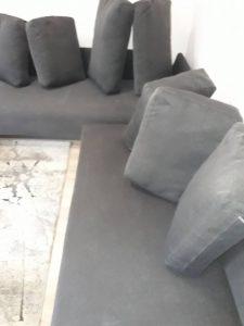 Диван с възглавници - машинно изпран.