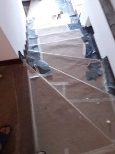 Стълбище след ремонт.