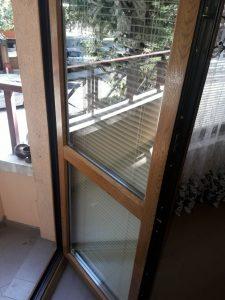 Почистени прозорци и щори.
