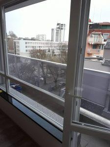 Почистени прозорци.