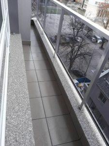 Почистена тераса.