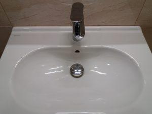Почистена мивка.
