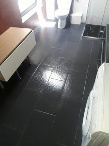 Почистена и дезинфектирана баня.