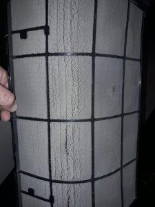 Замърсен филтър на климатик.