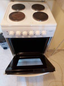 Почистена печка.