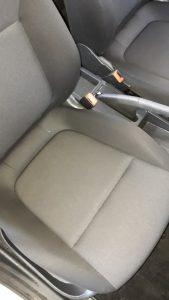 Изпрана седалка на лека кола.