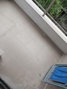 Замърсена тераса, след ремонт.