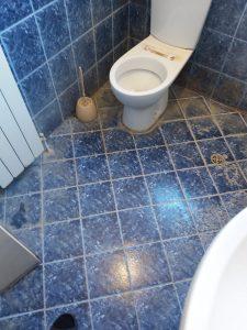Наслоен котлен камък по теракота и санитария.